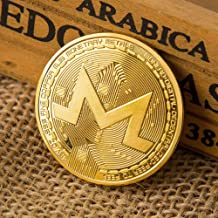 Peyan XMR Monero Gold-Plated Bitcoin Coins Commemorative Coins for Art Collection Collection Species Ethereum Coins Currency