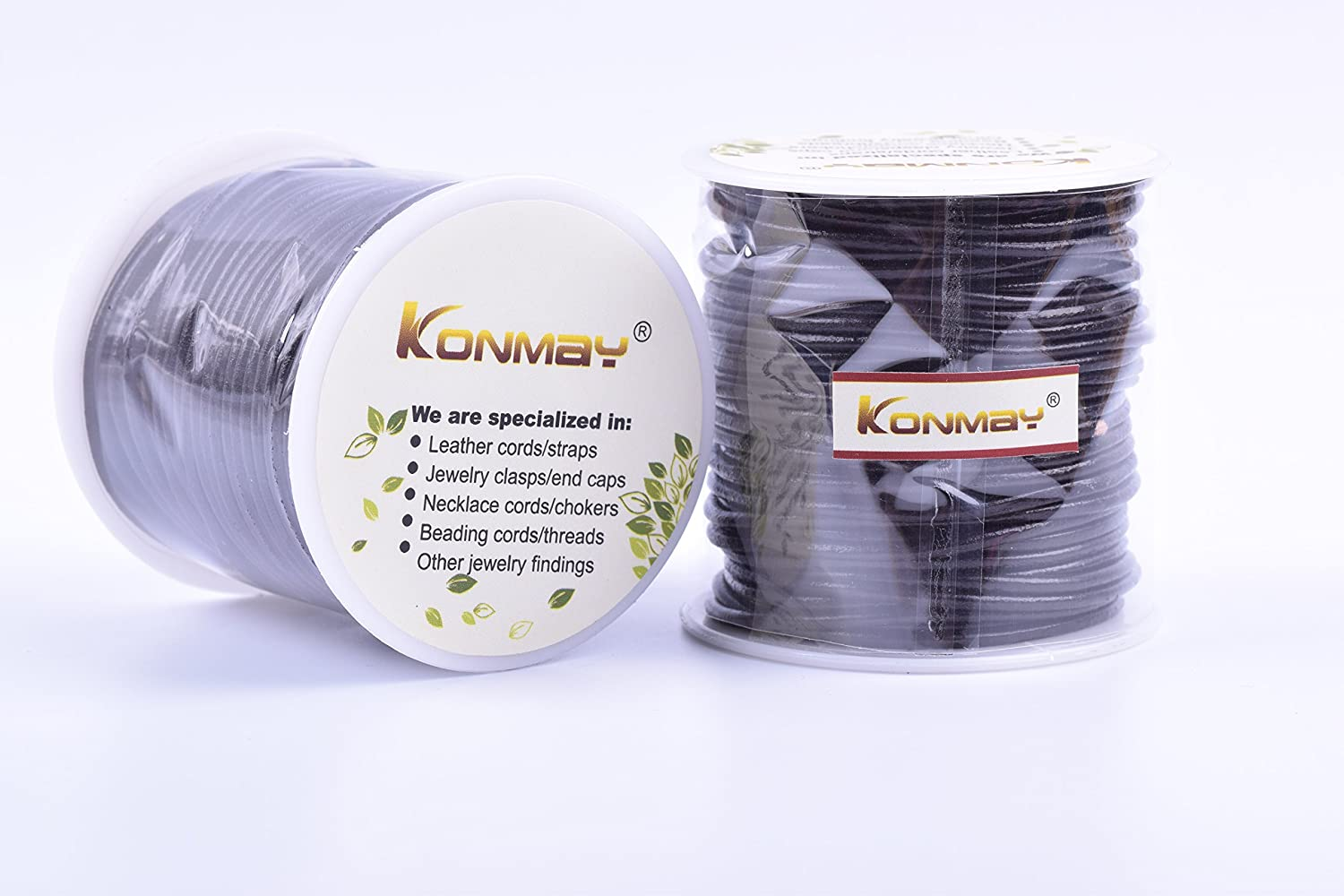 Crafting KONMAY 1 Roll 25 Yards 1.5mm Navy Blue Round Genuine//Really Leather Cord for Jewellery Making