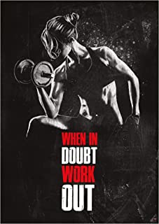 GREAT ART Motivational Workout Poster 24.4x16.5in (59,4x42cm) Gym Workout Quotes - When in Doubt Work Out Nr.5