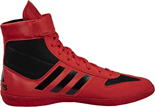 red and black adidas wrestling shoes
