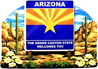 Arizona State Welcome Sign Artwood Fridge Magnet