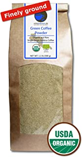 Green Coffee Powder organic, 100% pure and natural (finely ground, 500g)