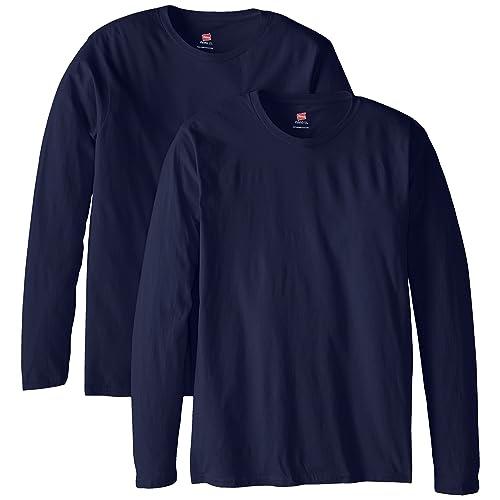614a2ed4d0be9 Hanes Men s Long-Sleeve Premium T-Shirt (Pack of ...