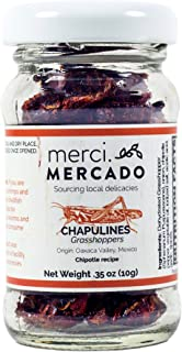 Chapulines (grasshoppers) - Gourmet edible insects from Oaxaca Mexico (small jar) (Chipotle)
