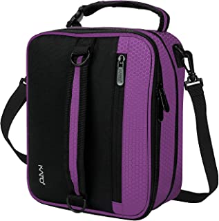 Expandable Insulated Lunch Bag, Leakproof Flat Lunch Cooler Tote with Shoulder Strap for Men and Women, Suitable for Work & Office by Tirrinia, Purple