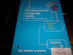 Elements of Language: Developmental Language Skills Teacher's Notes and Answer Key Introductory Course