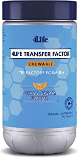 4Life - Transfer Factor Chewables Tri-Factor Formula - Citrus Cream Flavor - 90 Chewable Tablets