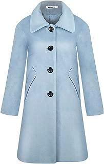 BOJIN Trench Coat Women Casual Long Winter Warm Fashion Elegant Comfortable Wool Blend