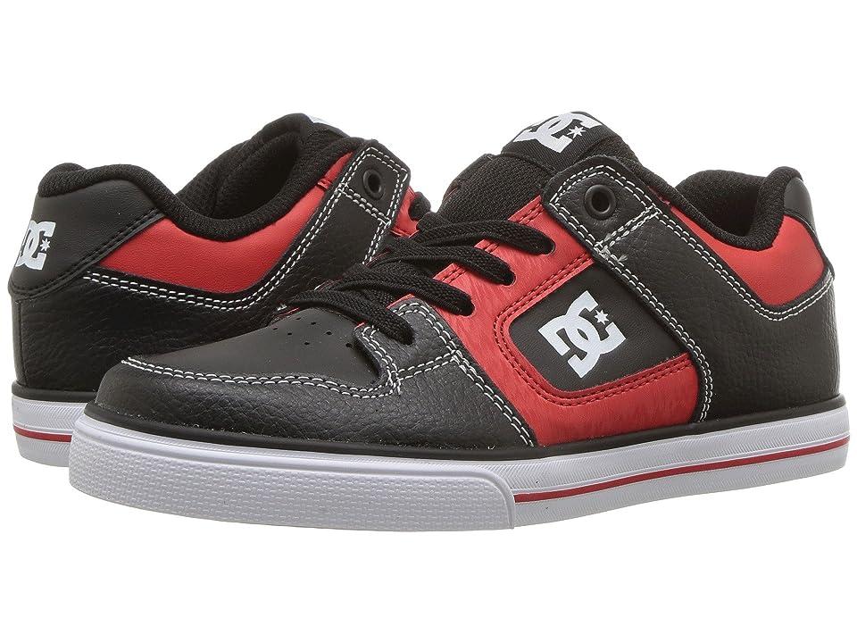DC Kids Pure Elastic SE Glow (Little Kid/Big Kid) (Black/Red) Boys Shoes