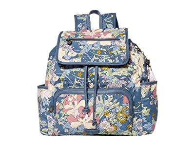 Sakroots Fleetwood Backpack (Denim Flower Power) Backpack Bags