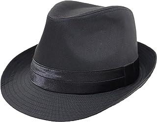 [エクサス]EXAS 中折れハット 無地ブラックボディ 2段テープ 大きいサイズ帽子 約65cm メンズ