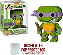 Funko 8-Bit Pop! Teenage Mutant Ninja Turtles - Donatello Vinyl Figure (Bundled with Pop BOX PROTECTOR CASE)