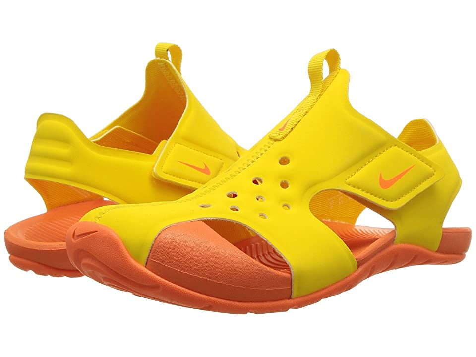 Nike Kids Sunray Protect 2 (Little Kid) (Tour Yellow/Total Orange/Total Orange) Boys Shoes
