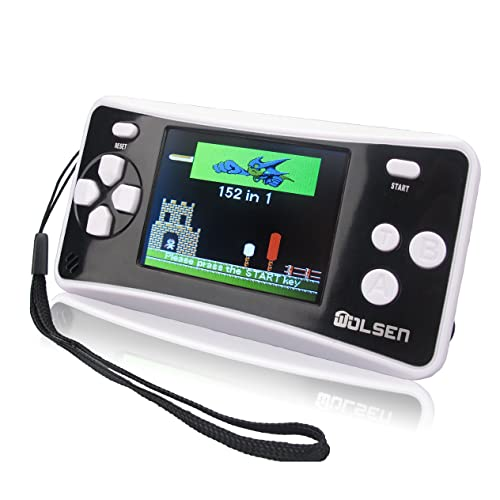 """WOLSEN 2.5"""" LCD Portable Handheld Game Console Speaker (Black + White) (3 X AAA) 152 in 1 Games"""