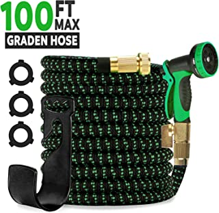 omotor 100FT Garden Hose, Flexible and Expandable Water Hose Lightweight, Portable and No-Kink Soft Hose