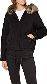 Only Womens Skylar Parka Jacket in Black
