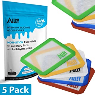 Non-Stick Wax Mat Pad [5-Pack] / Silicone Nonstick Mat Small Rectangle 5