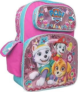 Paw Patrol Girls Pink 15 School Backpack Skye and Everest 5595 Nickelodeon