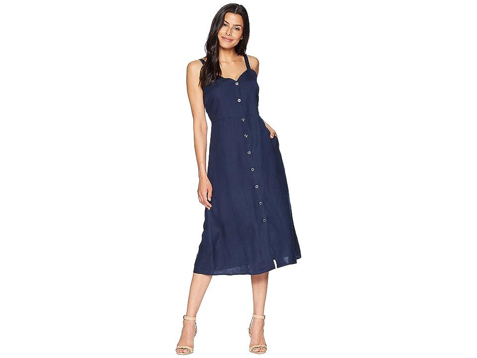 Lucky Brand Button Through Dress (American Navy) Women