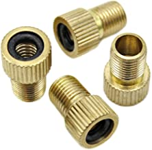 2 pcs KOOL-STOP Presta to Schrader Valve Adapter BRASS with O-ring inflate USA