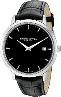 Men's Toccata Stainless Steel Swiss-Quartz Watch with Leather Strap, Black, 18 (Model: 5588-STC-20001)