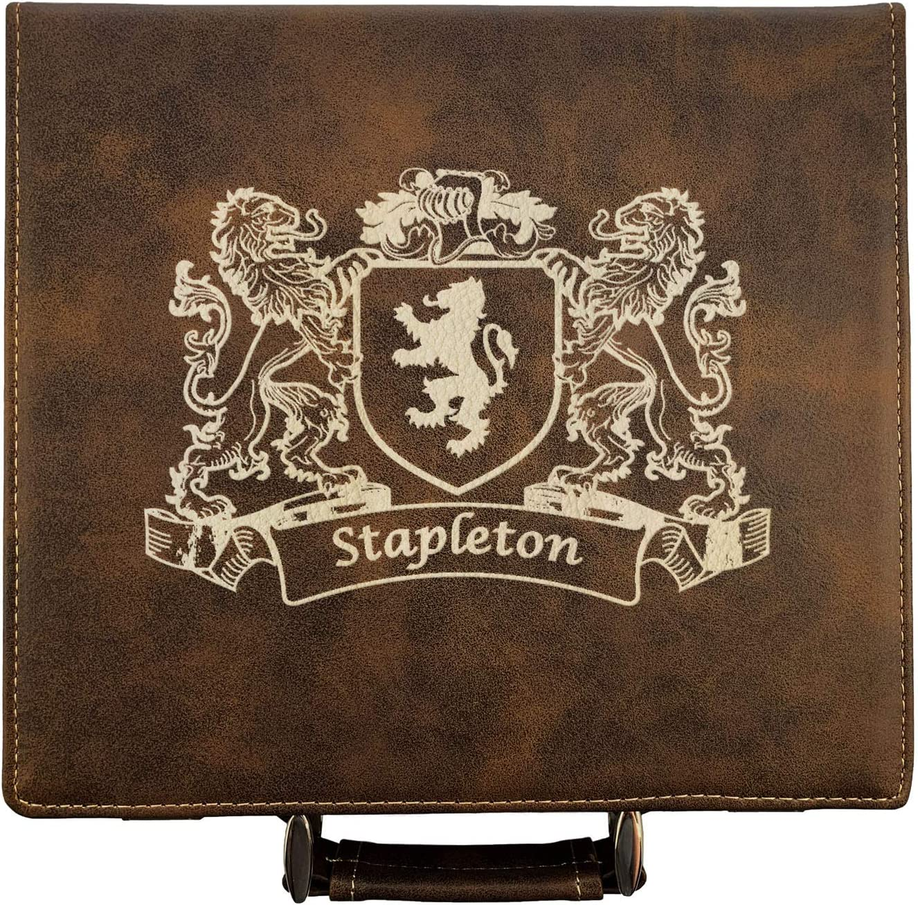 70% OFF Outlet Stapleton Irish Coat of Arms Set Leather Poker Surprise price