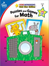 Carson Dellosa | Puzzles and Games for Math Activity Workbook | 2nd Grade, 64pgs (Home Workbooks)