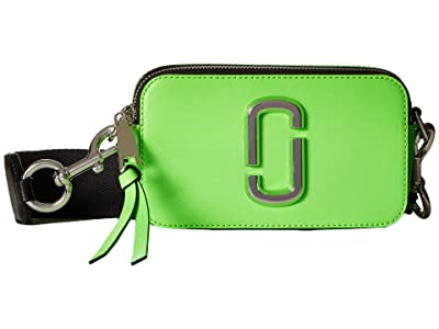 Marc Jacobs Snapshot Fluoro (Bright Green) Handbags