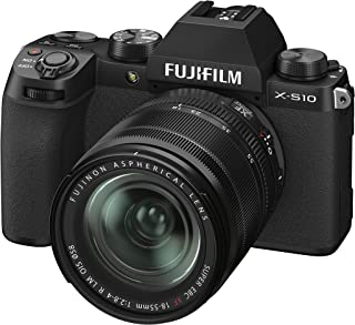 Fujifilm X-S10 Mirrorless Digital Camera XF18-55mm Lens Kit - Black