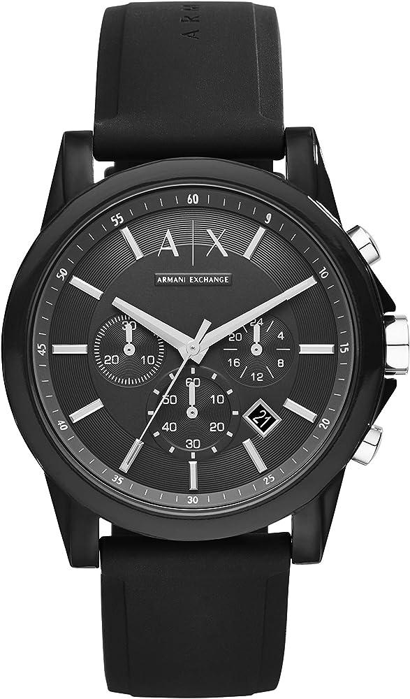 Armani exchange orologio cronografo uomo in acciaio inossidabile con cinturino in silicone 2724339058201