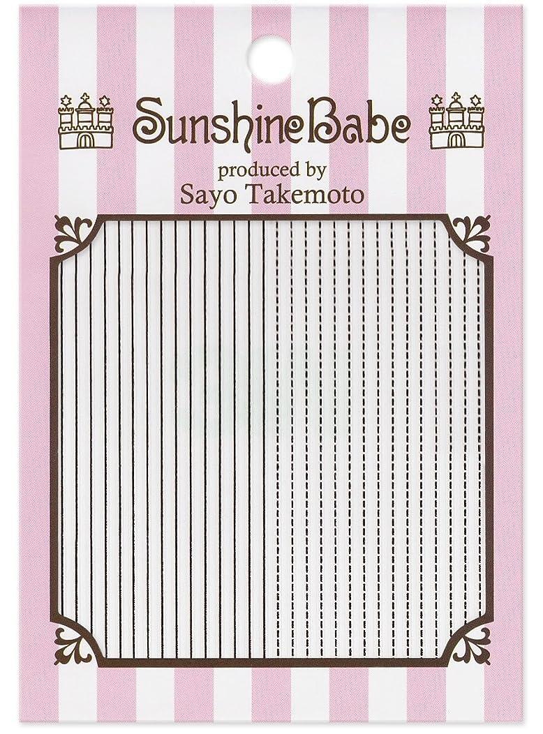 母性ご意見講義サンシャインベビー ジェルネイル 武本小夜のネイルシール Sayo Style ラインステッチ ブラック
