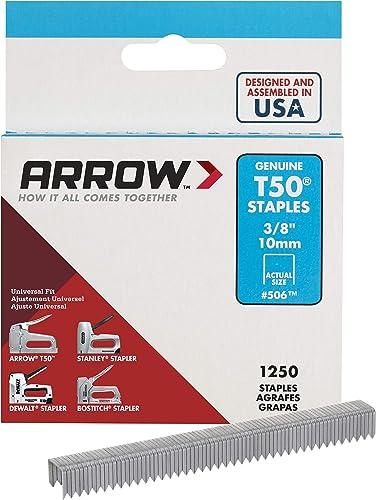 Arrow Fastener 506 Genuine T50 3/8-Inch Staples, 1250-Pack