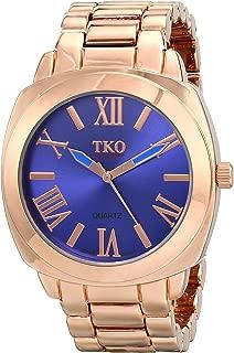 ORLOGI Women's Big Navy Deep Blue Face Rose Gold Boyfriend Oversized Watch