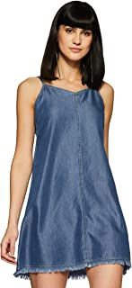 Flying Machine Women's Denim A-Line Dress