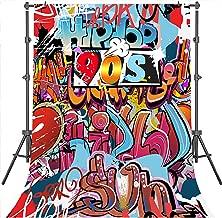 Mehofoto 90s Background Artistic Portrait Photoshoot Background Hip Pop Theme Party Backdrops 5X7ft Vinyl Background Studio Props