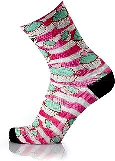 MB WEAR, Socks Fun Pastry L/XL, Unisex Adulto, Rojo/Blanco, Medio