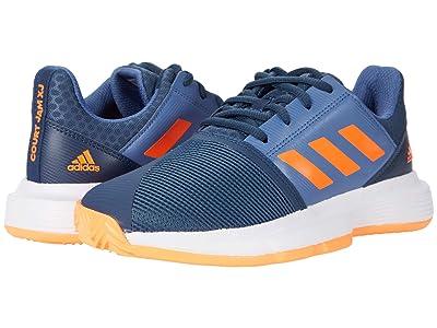 adidas Kids CourtJam X Tennis (Little Kid/Big Kid) (Crew Navy/Screaming Orange/Crew Blue) Kids Shoes