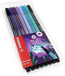 STABILO Pen 68 Fibre Tip Fineliner - 1.0mm - Narwhal Set - Wallet of 8 Assorted Colours