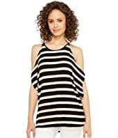 Vince Camuto - Desert Stripe Cold-Shoulder Dolman Top