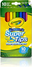 Crayola Super Tips Markers, Washable Markers, 10Count