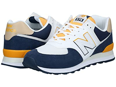 New Balance Classics ML574v2 (Natural Indigo/Chromatic Yellow) Men