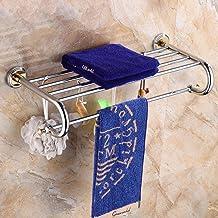 Handdoekhouder voor in de badkamer, Alle koperen handdoekenrek, Handdoekhouder voor wandmontage, Badkameraccessoires-D 60 ...