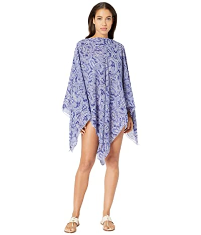 Etro Boat Neck Poncho (Navy) Women