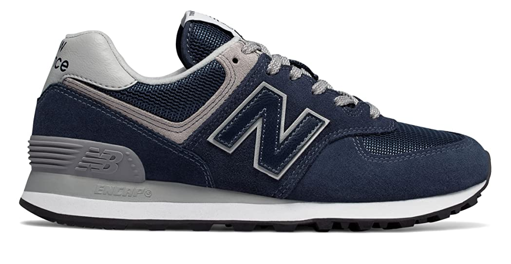 慣らす自分自身台風(ニューバランス) New Balance 靴?シューズ レディースライフスタイル 574 Navy with White ネイビー ホワイト US 8 (25cm)