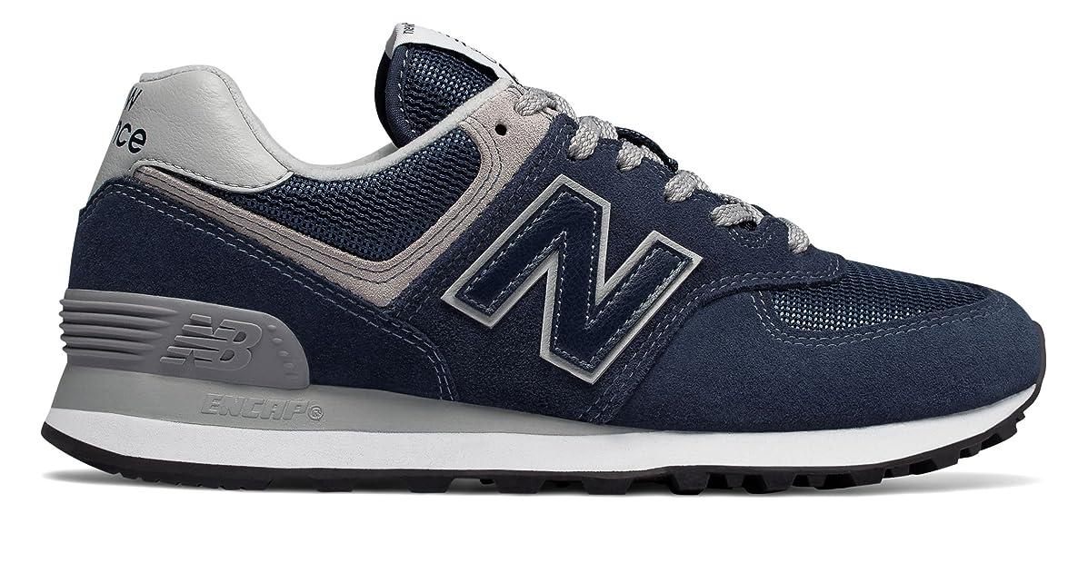 めったに泥棒ほのか(ニューバランス) New Balance 靴?シューズ レディースライフスタイル 574 Navy with White ネイビー ホワイト US 6 (23cm)