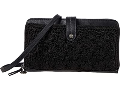 The Sak Iris Crochet Smartphone Crossbody (Black Malia Weave) Handbags