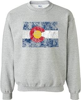 Distressed State Flag Outline Crewneck Sweatshirt