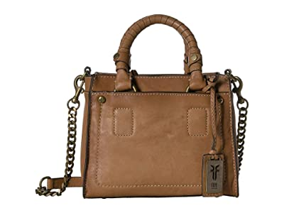 Frye Demi Mini Satchel (Beige) Satchel Handbags