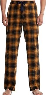 Eghunooze - Pantaloni da pigiama a quadri da uomo, in cotone, con cordino, elastico in vita per il tempo libero, pantaloni...