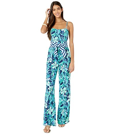 Lilly Pulitzer Nila Jumpsuit (High Tide Navy Take It Or Leaf It Engineered) Women